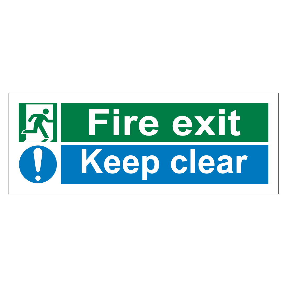 fire exit keep clear multi message sign emergency exit. Black Bedroom Furniture Sets. Home Design Ideas