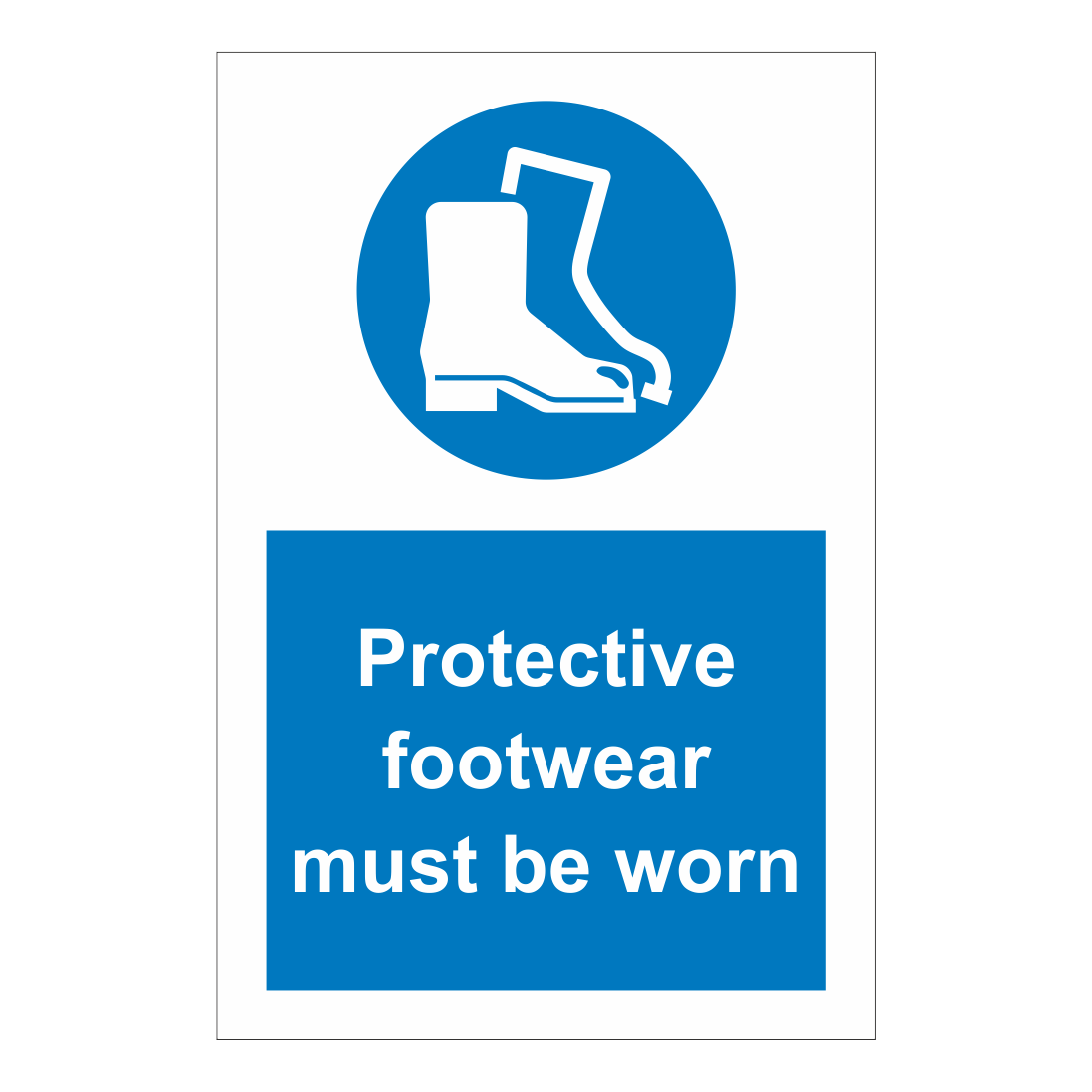 protective footwear must be worn sign safety clothing