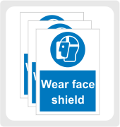 Face Protection Signs